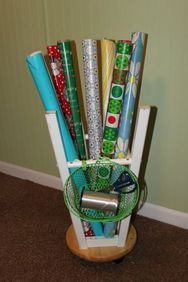 5 Simple and Ridiculous Ideas: Garden Tool Holder Awesome garden tool decor garage.Garden Tool Gift garden tool sheds ana white. Garden Tool Shed, Garden Tool Storage, Craft Storage, Storage Ideas, Wrapping Paper Organization, Diy Organization, Organizing Tips, Repurposed Items, Easy Diy Projects
