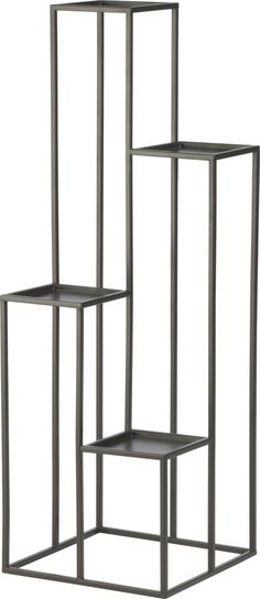 Quadran Plant Stand in Garden, Patio | Crate and Barrel