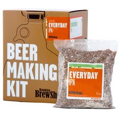 Brooklyn Brew Shop Everyday IPA Beer Making Kit: All-Grain Starter Set With Reusable Glass Fermenter, Brew Equipment, Ingredients (Malted Barley, Hops, Yeast) Perfect For Brewing Craft Beer At Home Valentines Day Gifts For Him, Fathers Day Gifts, Gifts For Dad, Guy Gifts, Beer Gifts, Kids Gifts, Beer Brewing Kits, Home Brewing, Ipa