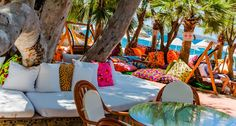 colourful beach bar