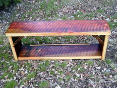 Reclaimed Wood Entrance Bench/Bookcase