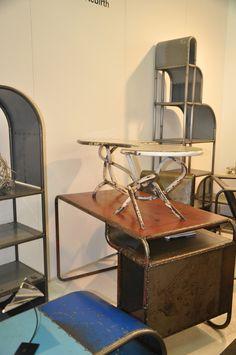 1920's deco inspired shelves.