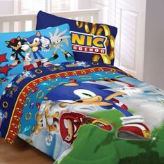 Sega Sonic The Hedgehog Twin Comforter & Sheet Set Piece Bedding) Twin Comforter, Bedding Sets, Hedgehog Bedding, Kids Bedroom, Bedroom Decor, Bedroom Ideas, Sonic Birthday, Birthday Gifts, Bed In A Bag