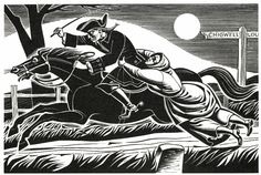 Dick Turpin's Ghost - illustration by Eric Fraser from Folklore Myths and Legends of Britain (1973).