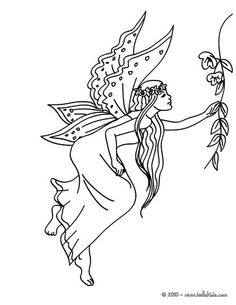 Fairy Long Dress Coloring Page