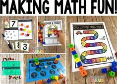 Number Sense Math Ideas - Whole Group, Small Group, and Independent Games and Activities