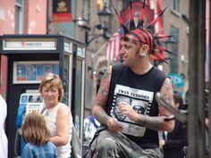 An Irish Punk in Temple Bar Area in Dublin-->