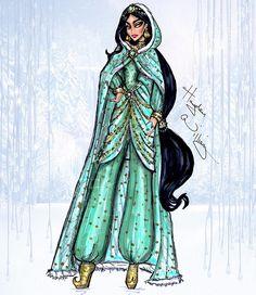 jasmine aladdin disney princess hayden williams fashion design sketch coat winter
