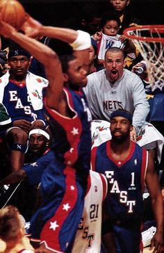 Jason Kidd is in awe as he watches T-Mac dunk.