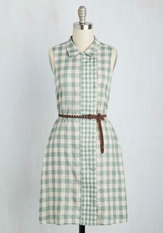 Guest Again! Dress. Well give you one guess as to which brunch attendees ensemble the host loved best. #green #modcloth