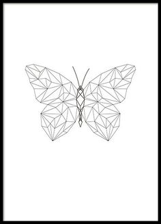 Beautiful poster with butterfly in geometric shapes - Origami Tattoo - Tattoos Tattoos Geometric, Geometric Drawing, Geometric Shapes, Geometric Poster, Geometric Origami, Geometric Animal, Geometric Painting, Origami Tattoo, Tape Art