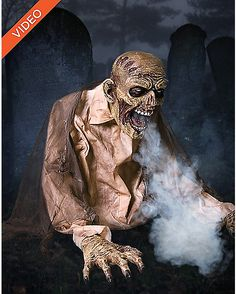 Gaseous Fog Zombie Animatronic - Decoration - Spirithalloween.com