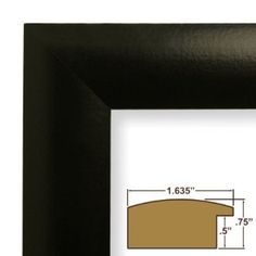 """4x7 Custom Picture Frame / Poster Frame 1.635"""" Wide Complete Matte Black Frame (WB3). This frame is manufactured in the USA, using the best materials and tools available. Our frames that are smaller than 12x18 inches are carefully assembled with glass facing and black backing with two wall hangers for both horizontal and vertical hanging. Frames larger than 12x18 inches include styrene facing (acrylic upgrade is available), a rigid cardboard backing and hanging hardware (which includes: (1)…"""