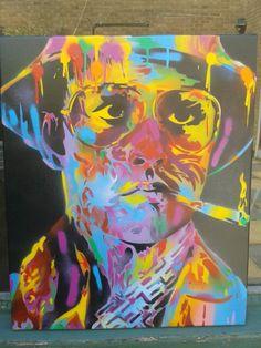 Hunter S Thompson all done https://www.etsy.com/uk/shop/AbstractGraffitiShop