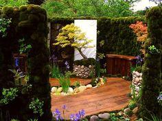 gardenslovers: The Japanese Moss Garden at the 2007 Chelsea Flower Show-Bonsai Small Garden Landscape Design, Japanese Garden Design, Home Garden Design, Japanese Gardens, Patio Design, Japanese Style, Japanese Landscape, Asian Garden, Easy Garden