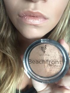 Younique Beachfront Bronzer used as lip color with chapstick https://www.youniqueproducts.com/DebbieBeauteous