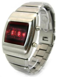 More retro 1970s style red LED digital watches.