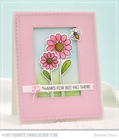 Fly-By Friends, Fly-By Friends Die-namics, Inside & Out Stitched Rectangle STAX Die-namics, Blueprints 27 Die-namics - Debbie Olson  #mftstamps