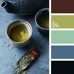 Superb, spectacular palette. Not pretentious, low-key, moderately calm as a quiet conversation in the morning still sleepy house. Soft pastel shades of mint and pistachio are ideal as basic tones in the interior. They bring harmony and freshness. Blue-gray, red-brown and black are suitable to create contrasts and accents.