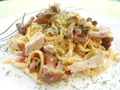 Spätzlepfanne mit Pfifferlingen, Speck und Filetspitzen, ein sehr leckeres Rezept aus der Kategorie Pasta & Nudel. Bewertungen: 70. Durchschnitt: Ø 4,2.