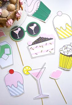 Photobooth party props - Free printables