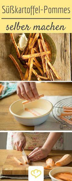 Knusprige Süßkartoffel-Pommes? Mit diesem Rezept gelingen sie garantiert! Schritt für Schritt erklärt!