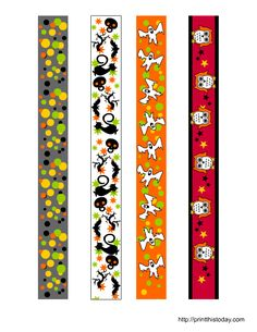Free printable colorful Halloween washi tape