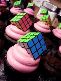 Rubix Cube cupcakes. Sweet!