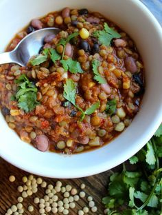 Lentil Taco Soup | Gluten Free, Vegan, Delicious & Satisfying | Lentils have double the protein of a serving of quinoa | Lentils, like all pulses are packed with fiber & antioxidants and make nutritious, sustainable, affordable and delicious meals  #PulsePledge  client