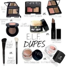 "Cosmetics dupes will help you save tons of money while still looking fabulous! Check these out ""Drugstore Dupes"" ~ Happy Shopping! Beauty Dupes, Beauty Makeup, Beauty Hacks, Hair Beauty, Makeup Tips, Perfect Makeup, Pretty Makeup, Love Makeup, Cheap Makeup"