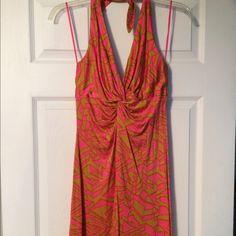 Trina Turk pink halter dress size small Trina Turk pink halter dress size small. Super sexy flattering. Trina Turk Dresses