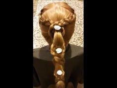 Saç Modeli 13 - Çiçekli sarmaşık örgü saçmodeli, Braided flowering ivy hairstyle / Fermoon