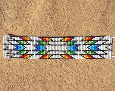 Mexico Festival Western Bead Cuff Bracelet Bead Loom