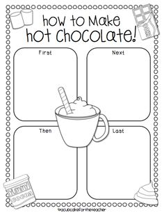 A Cupcake for the Teacher: Hot Chocolate {a Craftivity}