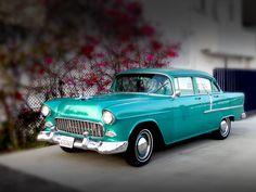 A wedding car.