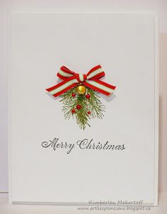 Art Keeps Me Sane: Festive Friday and CAS-ology Challenges #christmascard. Love the simple elegance.