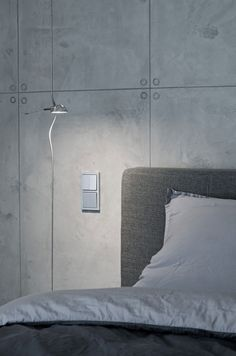 Concrete Interior by oooox | always wondered why hotels have switches by the beds but they never put them into standard homes?