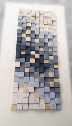 Wall Art Wooden Wall Decor Wood Wall Sculpture Rustic Wood Mosaic Modern Wood Wall Hanging wall art gray and gold abstract Rustic Wood Walls, Wooden Wall Decor, Wooden Wall Art, Wooden Walls, Diy Wall Decor, Wall Wood, Wall Decorations, Modern Wall Art Decor, Wall Décor