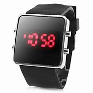 Unisex Red LED Digital Square Case Black Silicone Band Wrist Watch.  Get sizzling discounts up to 80% Off at Light in the box using Coupon Codes.