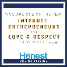 Reader testimonial and review of Honest Online Selling with ecommerce online business expert Jordan Malik. Awesome inspirational, motivational and positive small business quote for home based business entrepreneurs and startup companies. Side hustle thoughts for encouragement from legit and successful Amazon FBA and eBay sellers. Love this top money making quote and best making money saying. #quotes Internet Entrepreneur, Entrepreneur Quotes, Business Entrepreneur, Small Business Quotes, Small Business Resources, Make Money On Amazon, Make Money Fast, Ebay Selling Tips, Selling Online