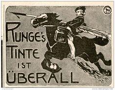 Original-Werbung/Inserat/ Anzeige 1899 : RUNGE'S TINTE ca. 90 x 60 mm
