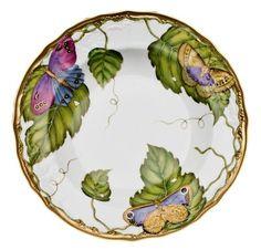 Exotic Butterflies Rim Soup Plate