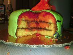 Pastel de cumpleaños - Bajoterra
