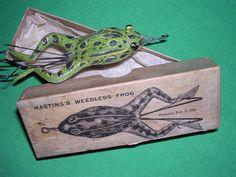 vintage fishing frog - Google Search