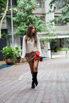 #inverno2013 #streetstyle #style #look #ootd #saopaulo #brasil #shortcouro #clutchcorrente #estilo #lavibh