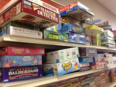 Visit thrift stores along the way for a steady supply of new books and games.