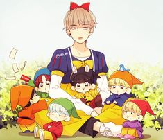 And Taehyung still looks hot even tho it's a fanart of him in the Snow White costume wtF