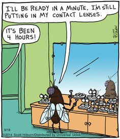 54 Ideas for eye contact lenses memes Funny Cartoons, Funny Comics, Eye Jokes, Argyle Sweater Comic, Optometry Humor, Eye Contact Quotes, Funny Images, Funny Pictures, Eye Contact Lenses