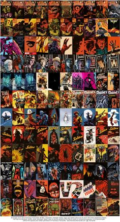 ~ 2013: A Year In Covers ~  Almost all the covers (& Mondo posters) I've drawn this year (some will be out in 2014. I had to leave out a couple of Mondo posters and some covers that haven't been revealed yet.These are in addition of the 300+ interior pages I drew and colored this year as well, plus a bunch of other side projects and things (like the Breaking Bad and Doctor WHo and Sleepy Hollow posters, to mention a few). Yep, looks like I have been breathing art 24/7 the whole year, and I…