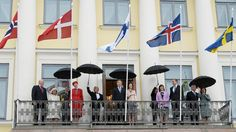 Wet and windy Finnish weather, president greet Nordic dignitaries in Helsinki